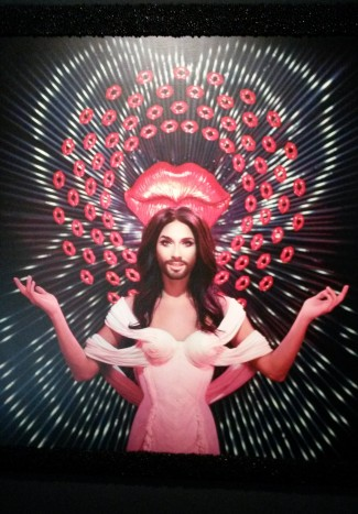 Conchita Wurst.  'Jean Paul Gaultier' exhibition, Grand Palais, Paris (2015)