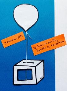 balloons in berlin, ballots in barcelona
