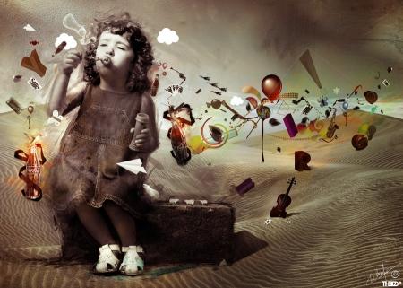 La vida en las mente de los niños por Mehdinom (Wikimedia Commons).