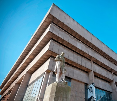 Birmingham Central Library by Bs0u10e01 (Wikimedia Commons)