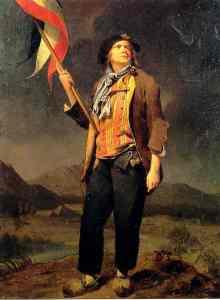 Retrato de un sans- culotte por Louis-Léopold Boilly (1761-1845). (Wikimedia Commons)